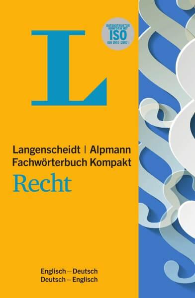 Langenscheidt Alpmann Fachwörterbuch Kompakt Recht Englisch