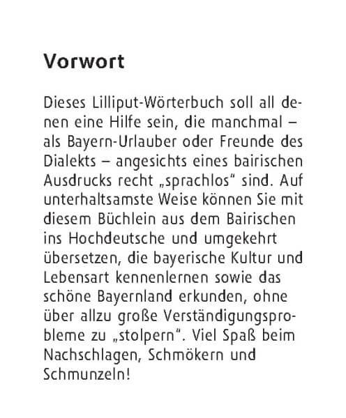 Langenscheidt Lilliput Bairisch
